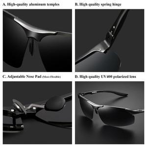Image 3 - PARZIN Men Polarized Sunglasses for Driving Fishing Top Quality Aluminum Magnesium Sun Glasses Anti UV400 Outdoor Eyewear