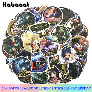 50-100Pcs/pack LOL/ League Legends Graffiti Stickers Hot Game KDA For Motorcycle Skateboards Laptop Luggage - discount item  25% OFF Classic Toys