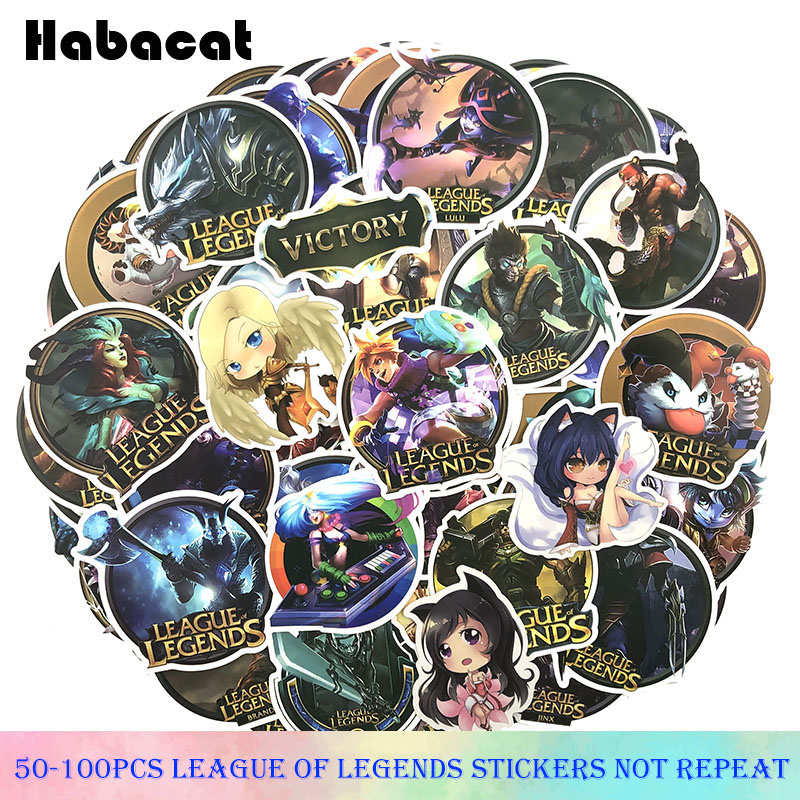50-100Pcs/pack League Legends Graffiti Stickers Hot Game Stickers For Motorcycle Skateboards Laptop Luggage Stickers