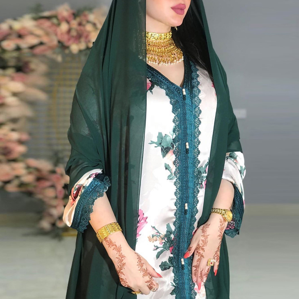 Dubai Turkey Abaya Arabic Hijab Muslim Satin Dress Islamic African Dinner Dresses Abayas For Women Robe
