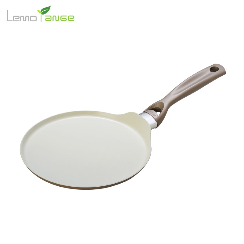 Ceramic Coating Frying Pan Lemorange Pancake Egg Non-stick Iron Crepe Pan General Use For Gas And Induction Cooker TQQ0103