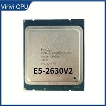 インテルxeon E5 2630 V2 lga 2011 cpuプロセッサSR1AM 2.6ghz 6コア15メートルのサポートX79マザーボード