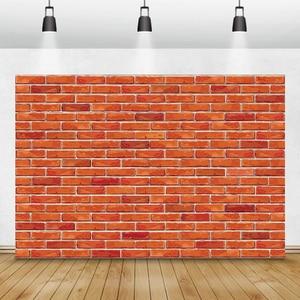 Image 5 - Laeacco brique mur décors Vintage Grunge bébé Portrait photographie arrière plans fête danniversaire Photocall pour Photo Studio accessoire