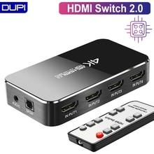 Commutateur HDMI 2.0 4K 60HZ HDR HDMI commutateur de répartiteur 4 en 1 sortie HDMI commutateur Audio extracteur ARC & IR contrôle pour PS3 PS4 HDTV