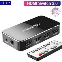 HDMI מתג 2.0 4K 60HZ HDR HDMI ספליטר מתג 4 ב 1 מתוך HDMI Switcher אודיו Extractor ARC & IR בקרת עבור PS3 PS4 HDTV