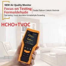 Portable Handheld Air Quality Monitor Digital Formaldehyde Detector HCHO TVOC VOCs Particle Air Quality Tester With Hazard Alarm