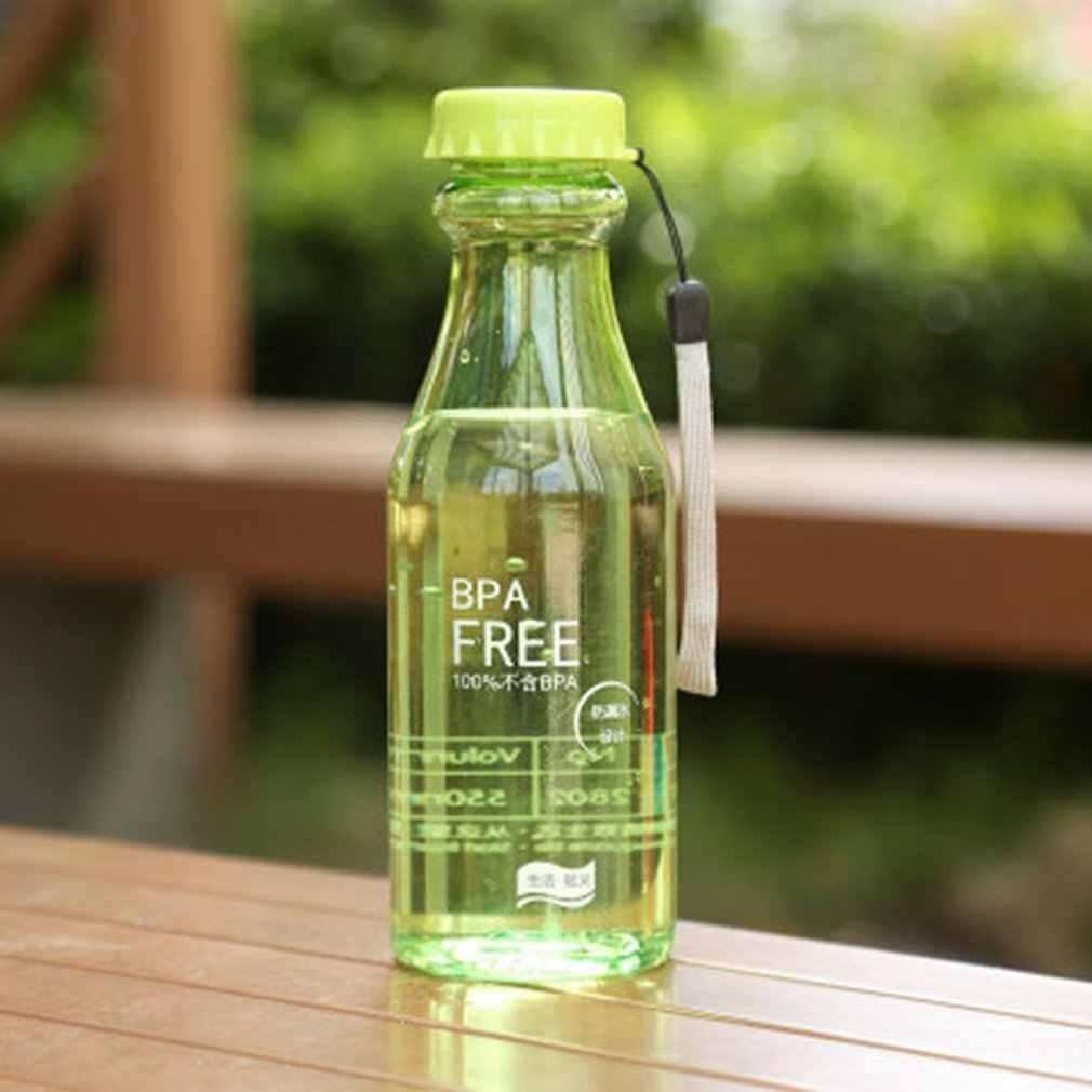 물에 대 한 플라스틱 스포츠 병 깨지지 않는 서 리 낀 누출 방지 플라스틱 주전자 BPA 무료 휴대용 물 병 여행 요가