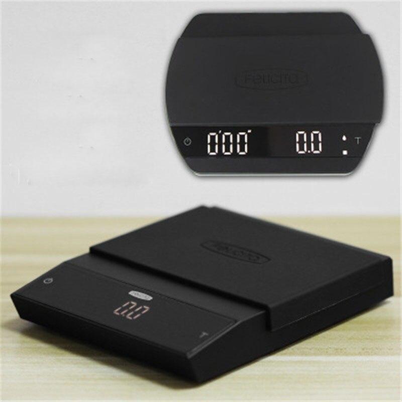 ใหม่กาแฟพร้อม Bluetooth Smart Digital Scale Pour Coffee อิเล็กทรอนิกส์กาแฟหยดขนาดด้วย TIMER สำหรับห้องครัวเคาน์เตอร์บาร...
