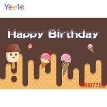 사용자 정의 사진 배경 신생아 베이비 샤워 핑크 아이스크림 배경 소년 사진 스튜디오를위한 생일 파티 배경