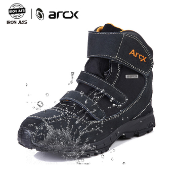 ARCX Motorcycle Boots Road Riding Moto Shoes Genuine Cow Leather Waterproof Protection Shoes Racing Touring Riding Botas Moto