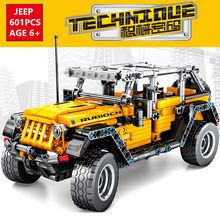 601Pcs Technic Jeeps Wrangler Rubicon Off-road Fahrzeug Auto Modell LegoINGs Playmobil Bausteine Kinder DIY Creator Ziegel spielzeug(China)
