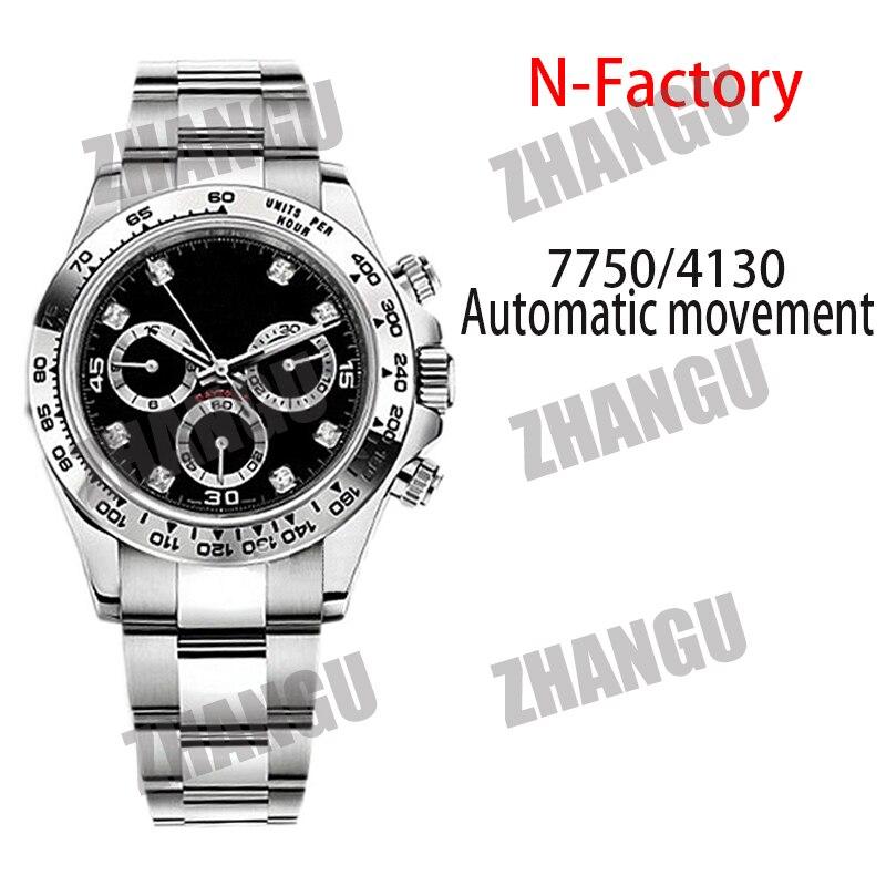 Мужские автоматические механические часы AAA Daytona 116500 Noob V4 904L из нержавеющей стали с механизмом 4130 1:1, Реплика лучшей версии