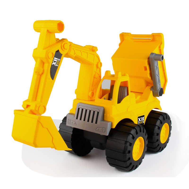 Bayi Bersinar Mainan Mobil Teknik Mobil Excavator Model Traktor Mainan Dump Truk Model Klasik Mainan Kendaraan Mini Hadiah untuk Anak Laki-laki
