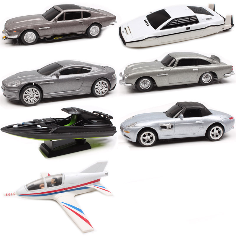 7pcs/set 1:48 Suntory  007 James Bond  Lotus Esprit Aston Matin DBS DB5 V8 Q Boat Planes Diecasts & Toy Vehicles Model Scale Car