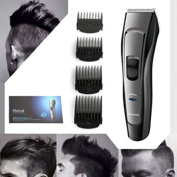 Adults Kids Professional Electric Hair Clipper Beard Trimmer Barber Grooming Kit Rechargeable Cordless Haircut Machine