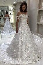 Свадебное платье חתונה שמלות מדהים סטרפלס Off the כתף כלה שמלת אלגנטי Applique כדור שמלת חתונת שמלה