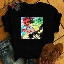 Harajuku футболка базовая Женская Повседневная с круглым вырезом