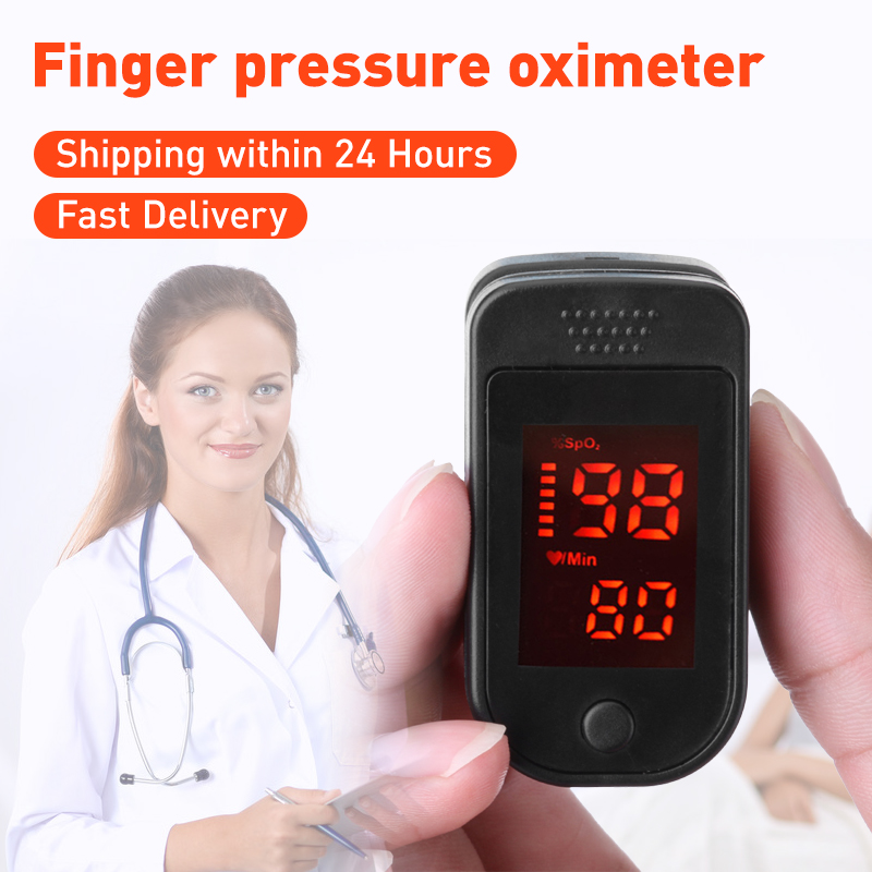In Stock! Finger Pulse Oxygen Saturation Monitor Blood Oximeter Heart Rate Detector Health Arterial Oxygen Saturation Fingertip