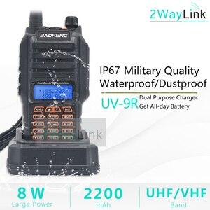 Image 2 - 8W Baofeng UV 9R IP67 Waterproof Dual Band Ham Radio Walkie Talkie 10KM UV 9R Plus UV XR UV 9R transceiver UHF VHF radio station