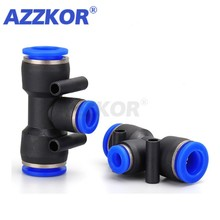 Connector Air-Compressor Pneumatic-Joint Fttings AZZKOR PEG Tee-Reducer Quick Plastic