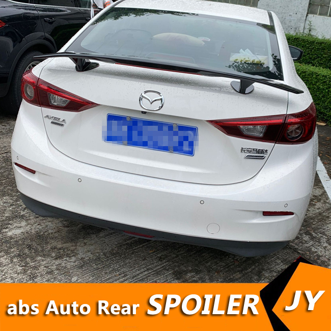 For <font><b>Mazda</b></font> 3 Axela <font><b>Spoiler</b></font> 2014-2018 <font><b>Mazda</b></font> 3 Axela <font><b>spoiler</b></font> nF High Quality ABS Material Car Rear Wing Primer Color Rear <font><b>Spoiler</b></font> image