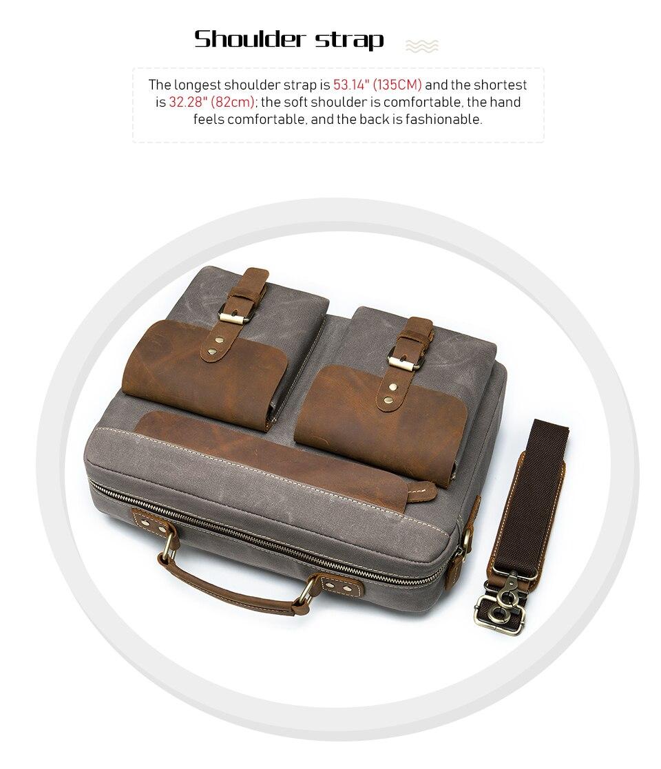 H031feaa06c274170b0e1d22363e12c0bK WESTAL Men Briefcases Men's Bag Genuine Leather Business Office Bags for Men Laptop Bag Leather Briefcases Male Lawyer Bags