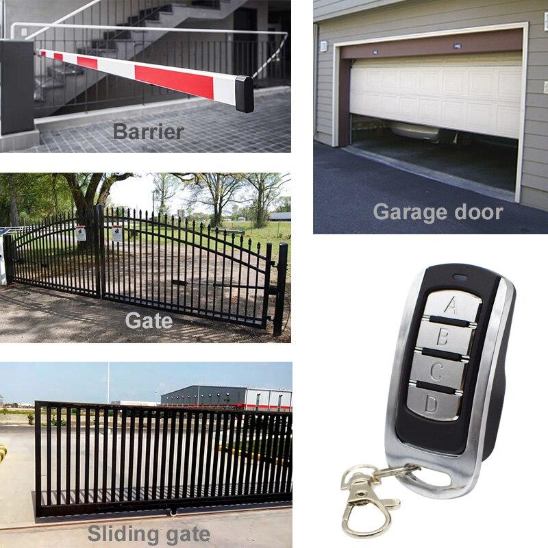 Garage door remote control for 433mhz garage command 433.92MHz garage door opener rolling code fixed code transmitter