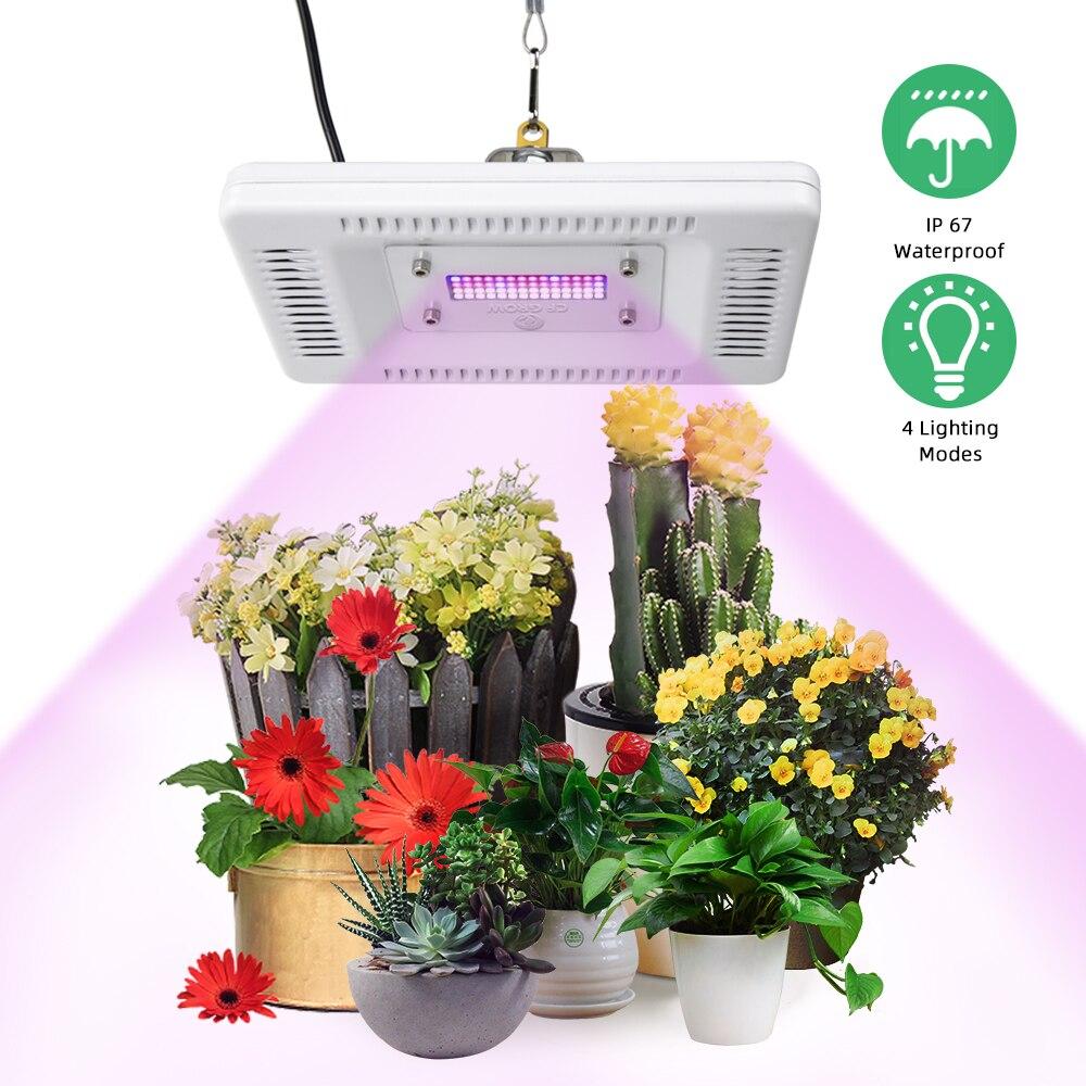 50W 100W 200W 300W LED Grow Light Full Spectrum Ultra-Thin Waterproof IP67 Grow Lamp For Indoor Outdoor Plant Seedling Veg Bloom
