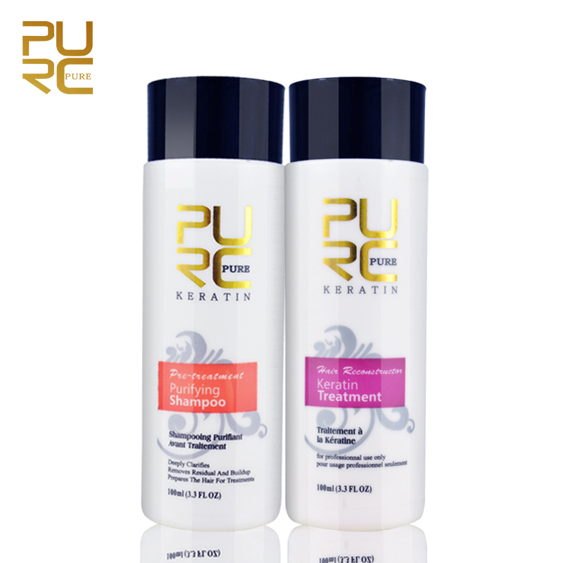 Professional Keratin Hair Repair Treatment 5% Hair Straightener Clarifying Shampoo For Open Cuticle Supple Smooth Hair Care
