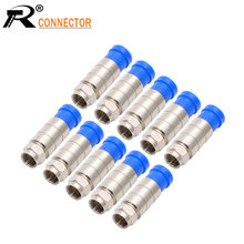 R conector de alta qualidade sacos de compressão de cabo, conector à prova dwaterproof água RG6FF-TYPR plug, rf coaxial rg6 rg59 rg11 adaptador coaxial