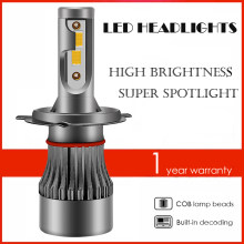 2PCS 6000K H7 led h4 H1 H8 HB4 H11 H3 HB3 LED Canbus 9005 9006 H13 H9 9004 9007 Car Headlight Bulbs 72W 8000LM 12V Led Light(China)