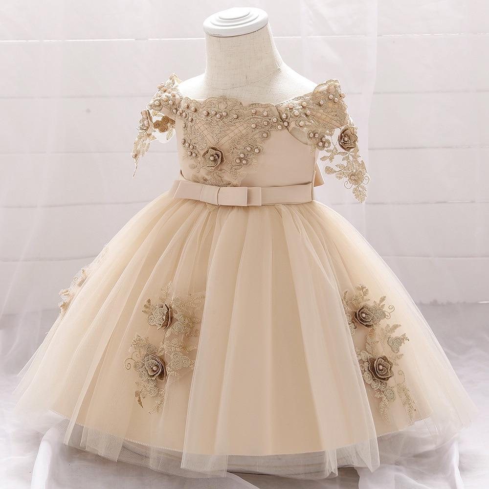 Newborn Baby Girl Party Dress For Baby 5st Birthday tutu Dresses  Christening Gown Baby Girl Dress Vestido Infantil Baby Clothing