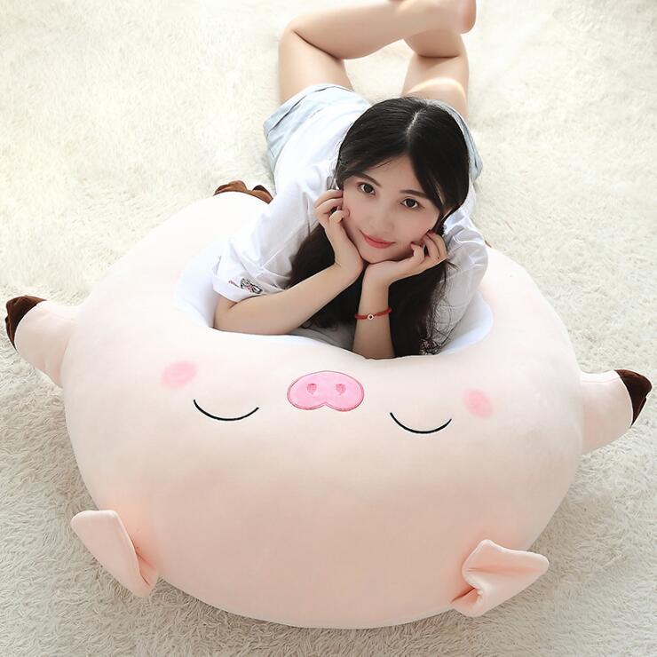 New 80cm Large Size Pig Plush Toys Kids Cushion Pillow Soft Car Sofa Calm Animal Stuffed Dolls Children Birthday Christmas Gift