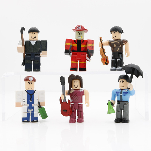6Pcs/Set ABS Virtual World Game Model DIY Assembled Blocks Brighteyes Cindering Boy Guest Anime Figure Toys Collectibles Dolls