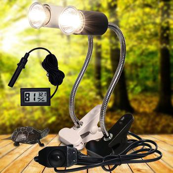 UVA + UVB 3 0 gadów zestaw lamp z klipsem i staje w sytuacji sam na sam uchwyt na żarówkę do lampy i termometr higrometr żółw żółwie wygrzewające się lampa grzewcza zestaw tanie i dobre opinie Nasedal CN (pochodzenie) 3 godziny CHARGE C010