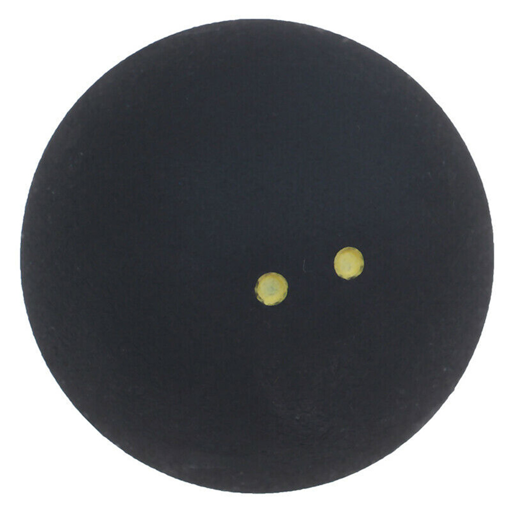 Tool Two Yellow Dots Rubber Round Squash Ball Low Speed Training Durable Small Elasticity Competition Professional Player Sports
