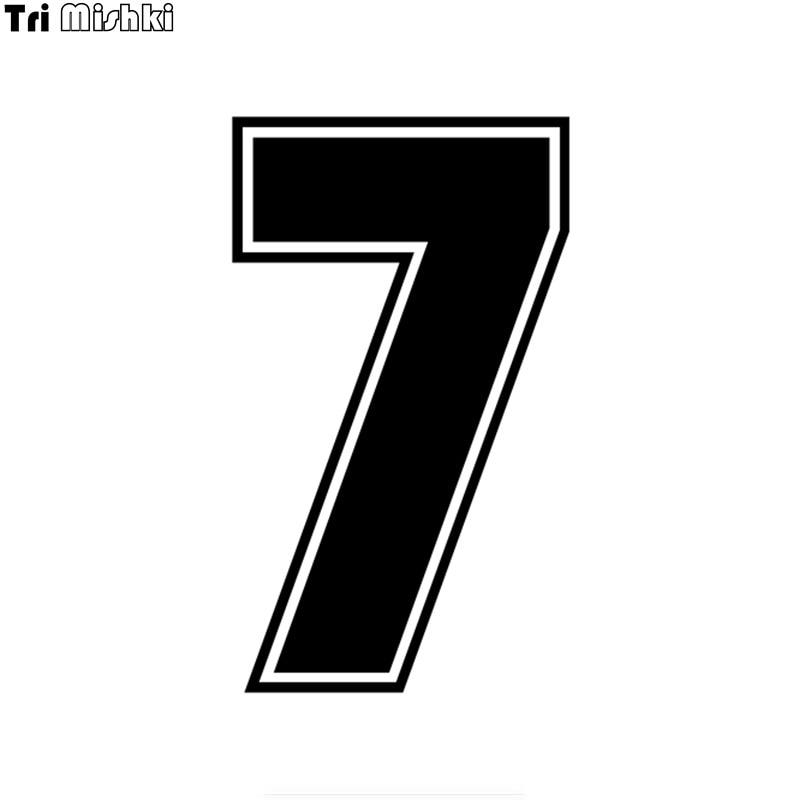 Tri Mishki Автомобильная наклейка «Доберман» на шлем # racing number 7, забавные виниловые наклейки, аксессуары для мотоциклов