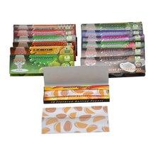 250 pces/5 pacotes 78mm fruit-flavored papel rolo cones em forma de papel papéis de rolo cigarro fruta sabor fumar papéis acessórios