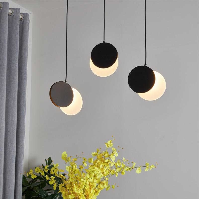 Scandinavian Post-modern Minimalist Living Room Dining Room Pendant Lamp Bar Creative Personality Crescent Light Pendant Lights