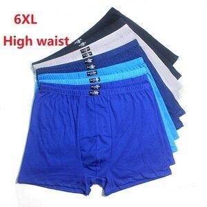 5pcs/Lot 6XL 5XL Large Size High waist Underpants Men'S Boxers 100% Cotton Shorts Men Shorts Breathable Underwear Random colour
