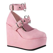 Pumps Platform-Shoes Wedges High-Heels Cosplay Lolita-Style Pink Black Gothic Sweet Woman