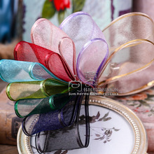 100yards 25mm 38mm satin edge organza sheer ribbon for hair bow diy accessories bouquet flower gift packing bow 100yards 25 38mm gold glitter metallic edge grosgrain ribbon for bouquet flower gift packing bow hair bow accessories