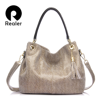 Realer Hobos Leather Handbag