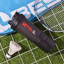 500ml moda garrafa de água de plástico fitness esportes três camada de proteína em pó milkshake shake copo personalizado frete grátis