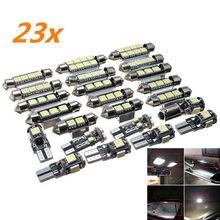 23pcs 5W LED 자동차 인테리어 라이트 돔 트렁크지도 라이센스 플레이트 독서 조명 램프 전구 T10 5050 화살표 디코드 유니버설 세트