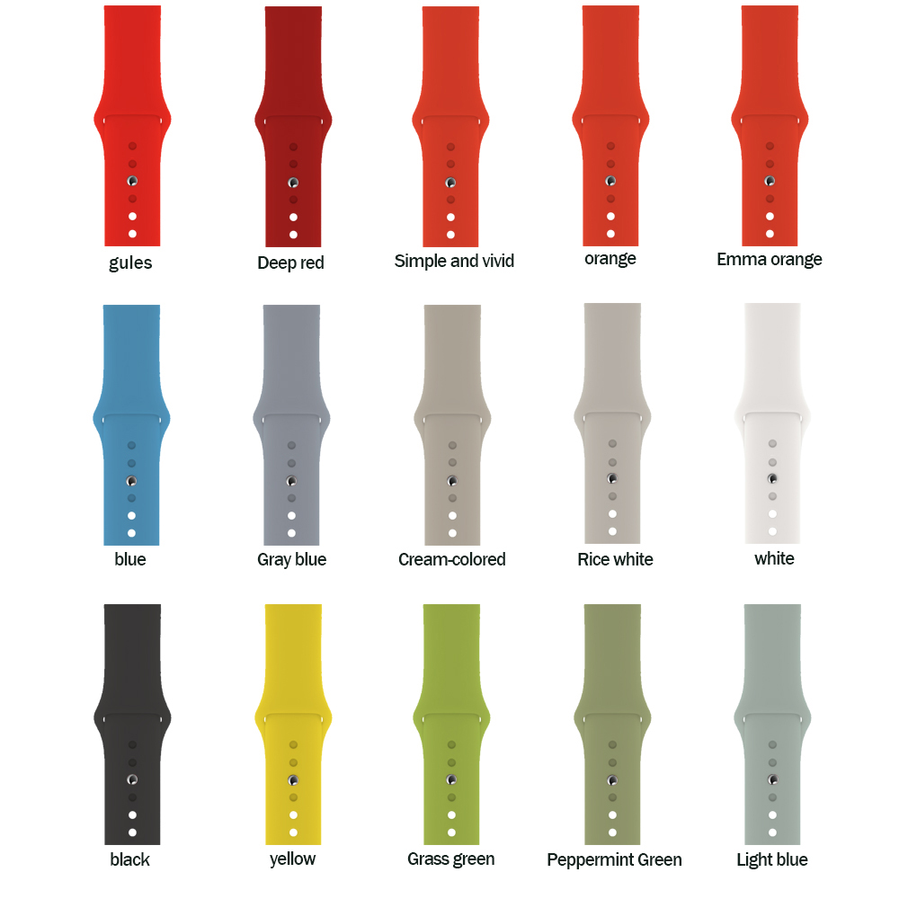 Silicone Strap For Apple Watch 5 4 Band Correa Applewatch 44mm 40mm 42mm 38mm Iwatch 5 4 3 2 1 Sport Bracelet Bands