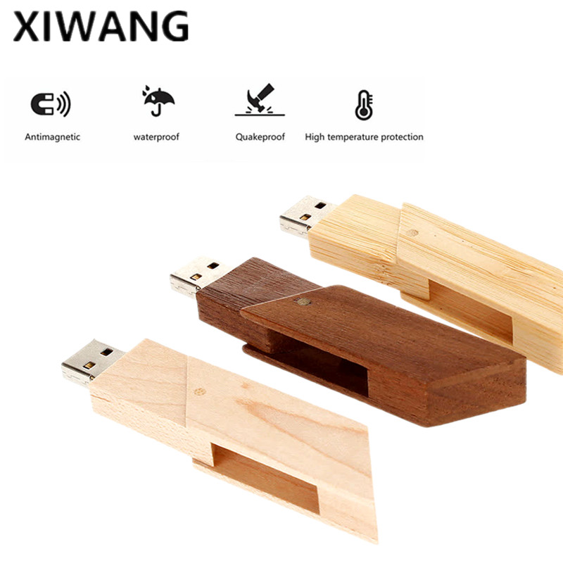 Image 5 - new wooden usb disk 4GB 8GB pendrive 16GB pen drive 32GB 64GB usb flash drive 128gb wedding gift memoria stick Free custom LOGO-in USB Flash Drives from Computer & Office