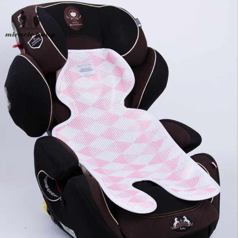 3D ตาข่ายทารกแรกเกิดรถเข็นเด็กคอป้องกัน Pram เบาะรถฤดูร้อนรถเข็นเด็กสูงเก้าอี้เครื่องนอนที่นอน