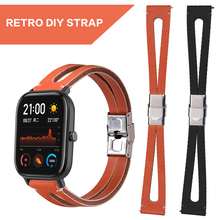 Pohiks Fashion PU Leather Strap Replacement Watch Band For Amazfit GTS Wristband for Smart Accessories
