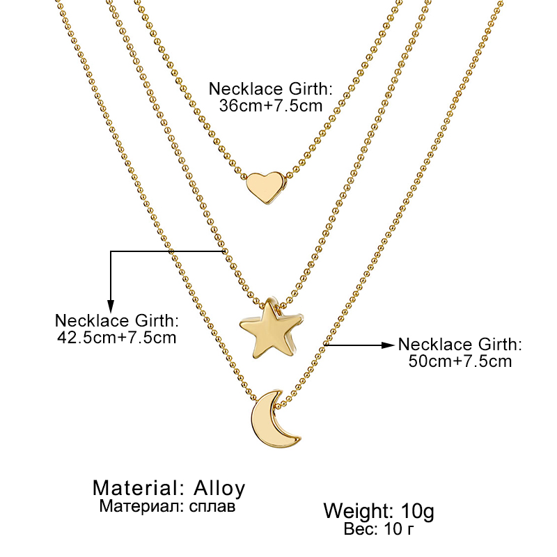 IFMIA Bohemian Multi Layered Necklace For Women Vintage Metal Star Moon Lock Coin Chain Pendant Necklace Jewelry 2020 New Gifts